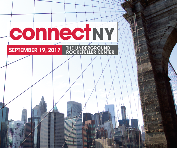 Connect New York on Sept. 19 at The Underground, Rockefeller Center – 1221 Avenue of the Americas